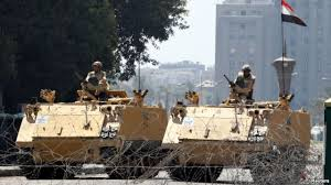 Egypt military in Cairo streets