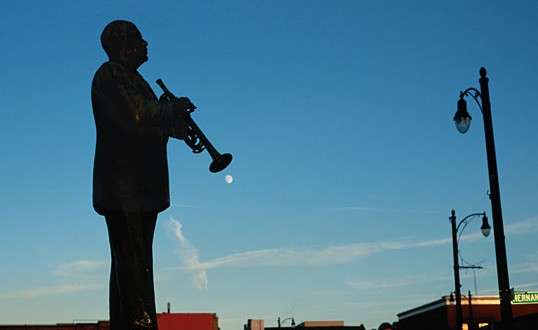RAYMOND GEHMAN / CORBIS  In the Memphis city park that carries his name, a statue of W. C. Handy commemorates his introduction of the blues along the city's famously musical Beale Street.