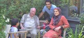 Sir Iain Chalmers, is an old friend of Gaza. He and his wife Lady Jan came to know Hassan and his family during their stay in Oxford. Yasmeen, Hassan's wife, was very enthusiastic about Lady Jan's Palestinian History Tapestry Project