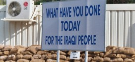 A sign in the Green Zone in Baghdad. photo by Peter Rimar