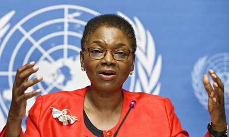 Secretary-General for Humanitarian Affairs and Emergency Relief Coordinator Valerie Amos