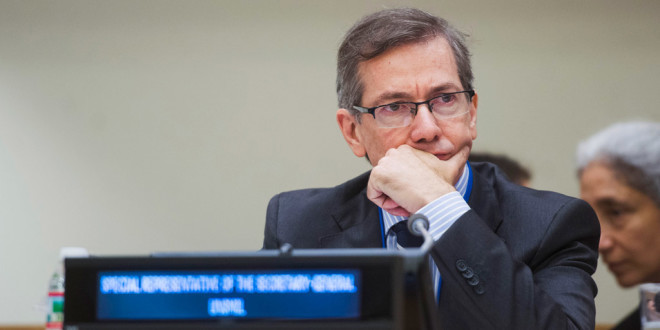 Head of the UN Support Mission in Libya (UNSMIL), Bernardino Léon.
