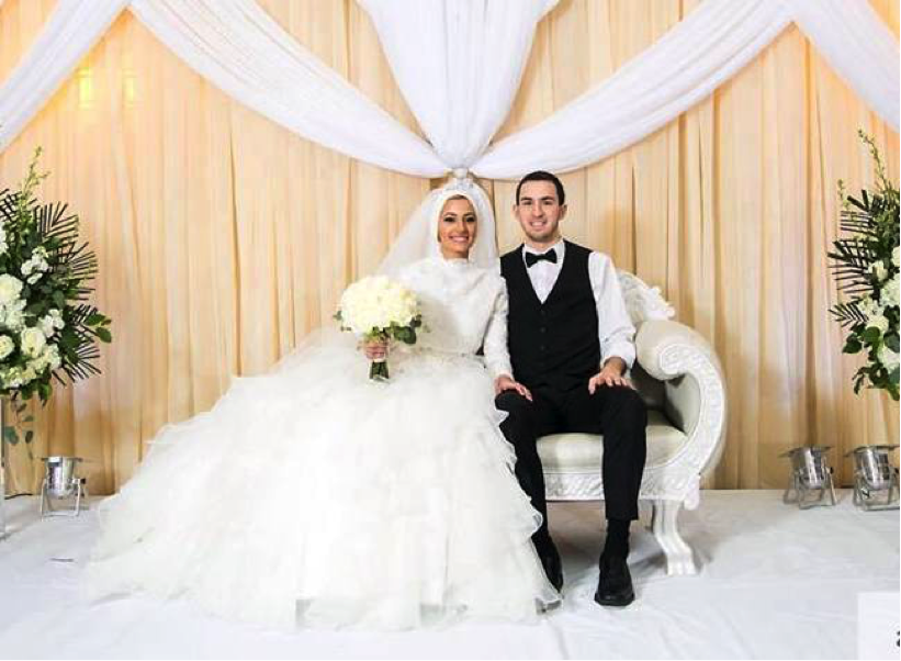 Deah and Yusor on their wedding day in december