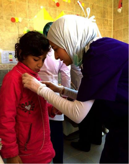 Yusor during her volunteering trip in Turkey  to aid  Syrian Refugees
