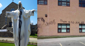 vandalism acts  at St. Catherine of Siena Church