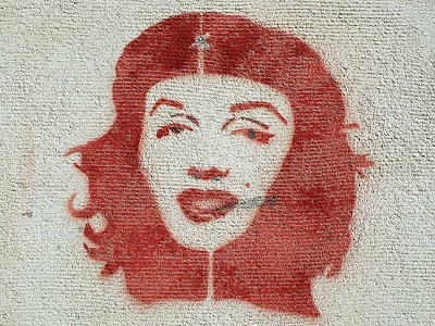 Che Guevara / Marilyn Monroe. (Kate Stanworth, Argentina Independent)